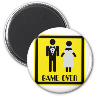 game over couple 2 inch round magnet