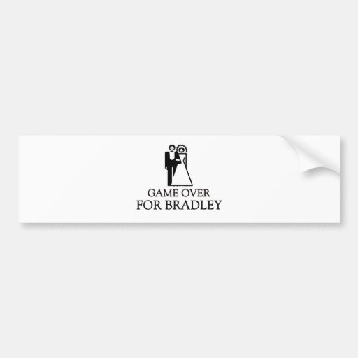 Game Over For Bradley Bumper Stickers