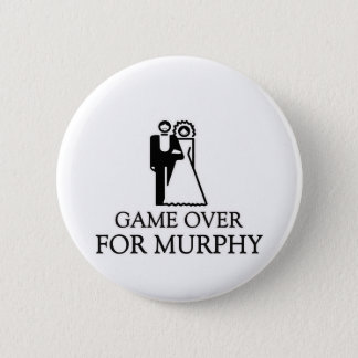 Game Over For Murphy 2 Inch Round Button