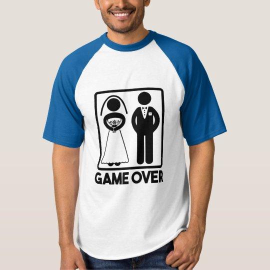 Game Over funny Groom's wedding shirt
