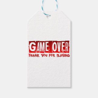 Game over gift tags