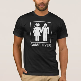 Game Over Groom Shirt - Black and White