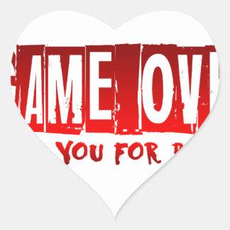 Game over heart sticker