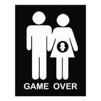Game Over Personalized Invite