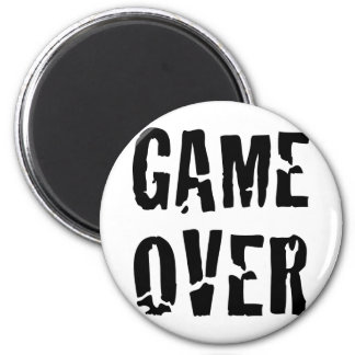 game over 2 inch round magnet