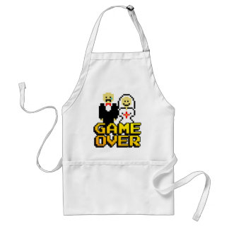 Game over marriage (8-bit) apron