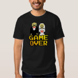 Game over marriage (8-bit) t-shirts