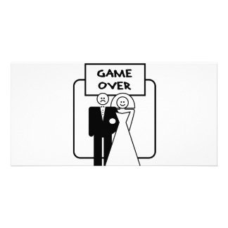 """""""Game Over"""" marriage Customized Photo Card"""