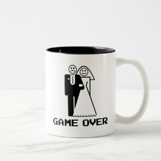 Game Over Marriage Game Over Funny tshirt Mugs