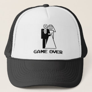 Game Over Marriage Game Over Funny tshirt Trucker Hat