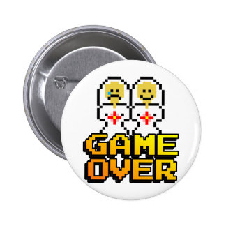 Game Over Marriage Lesbian 8-bit Pins