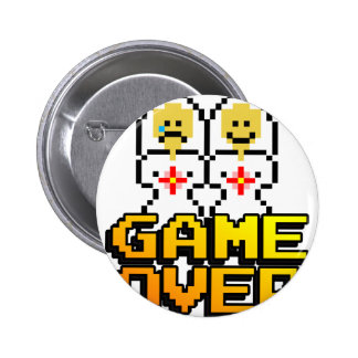 Game Over Marriage Lesbian 8-bit Button