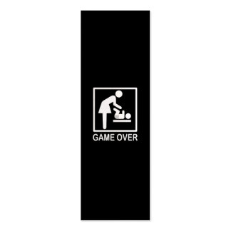 Game Over Mom Funny Black and White Pictogram Pack Of Skinny Business Cards
