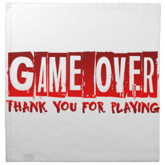 Game over napkin