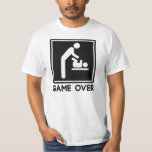 Game Over New Baby for Parent Dad T-Shirt