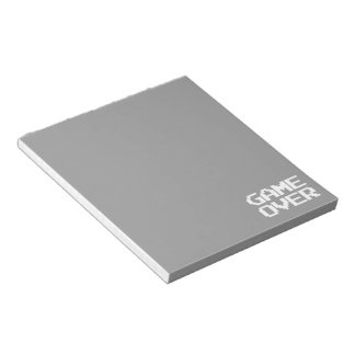 Game Over Notepad