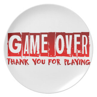 Game over party plate