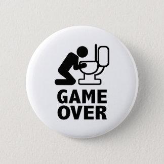 Game over puke toilet 2 inch round button