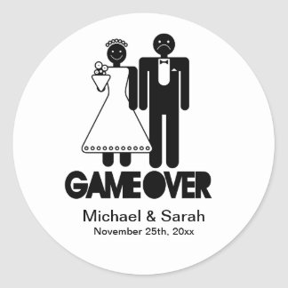 Game Over - Save the Date Stickers