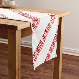 Game over short table runner