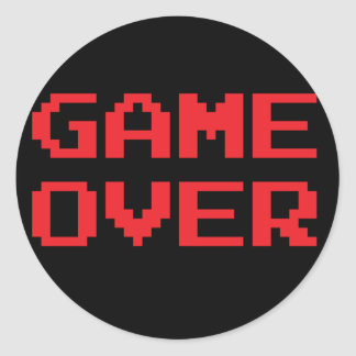 Game Over Stickers
