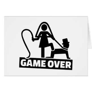 Game over wedding card