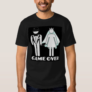 game over,wedding,getting married tshirts