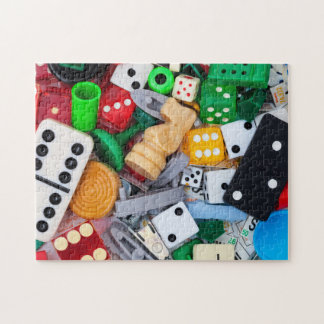 Game pieces photo puzzle