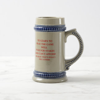 game player beer stein