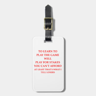 game player luggage tag
