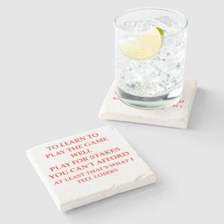 game player stone beverage coaster