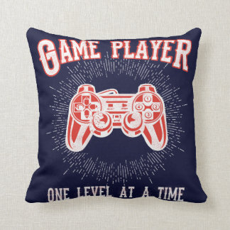 Game Room Video Game Player Throw Pillow