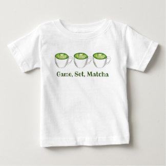 Game Set Match Matcha Green Tea Latte Foodie Baby T-Shirt