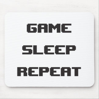 Game Sleep Repeat Mouspad Mouse Pad