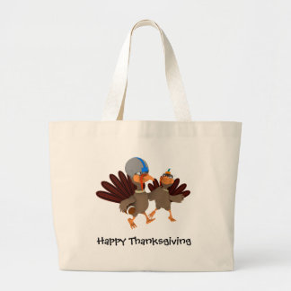 Game Time Thanksgiving Turkey Football Tote Bag