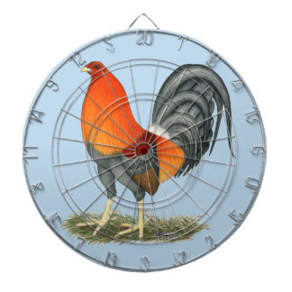 Gamecock Blue Red Rooster Dartboard