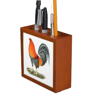 Gamecock Blue Red Rooster Desk Organizer