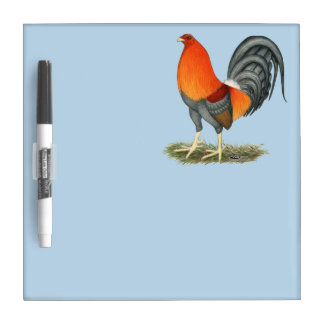 Gamecock Blue Red Rooster Dry Erase Board