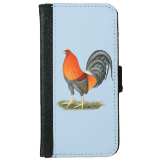 Gamecock Blue Red Rooster iPhone 6 Wallet Case
