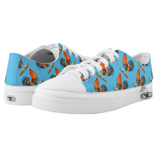 Gamecock Blue Red Rooster Low-Top Sneakers