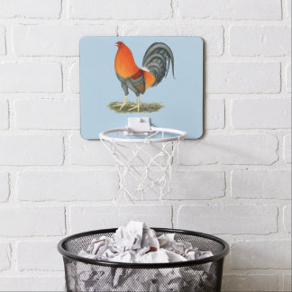 Gamecock Blue Red Rooster Mini Basketball Hoop