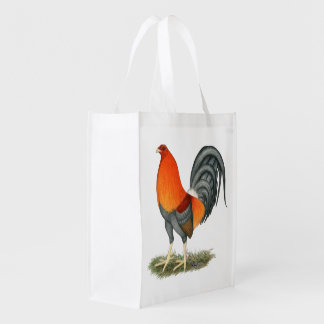 Gamecock Blue Red Rooster Reusable Grocery Bag
