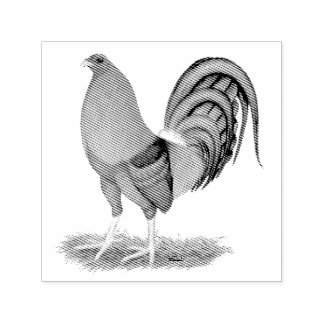 Gamecock Blue Red Rooster Self-inking Stamp