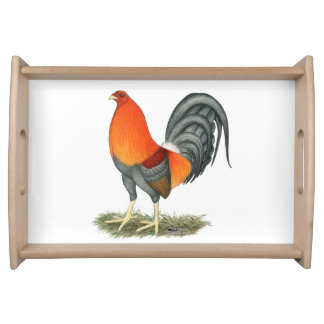 Gamecock Blue Red Rooster Serving Tray