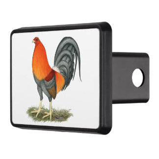 Gamecock Blue Red Rooster Trailer Hitch Cover