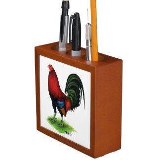 Gamecock:  Dark Red Desk Organizer
