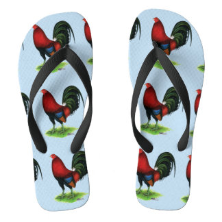 Gamecock:  Dark Red Flip Flops