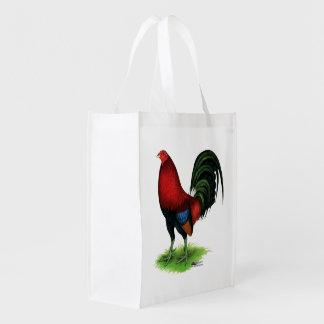 Gamecock:  Dark Red Reusable Grocery Bag