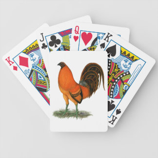 Gamecock Ginger Red Rooster Bicycle Playing Cards