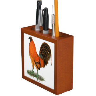 Gamecock Ginger Red Rooster Desk Organizer